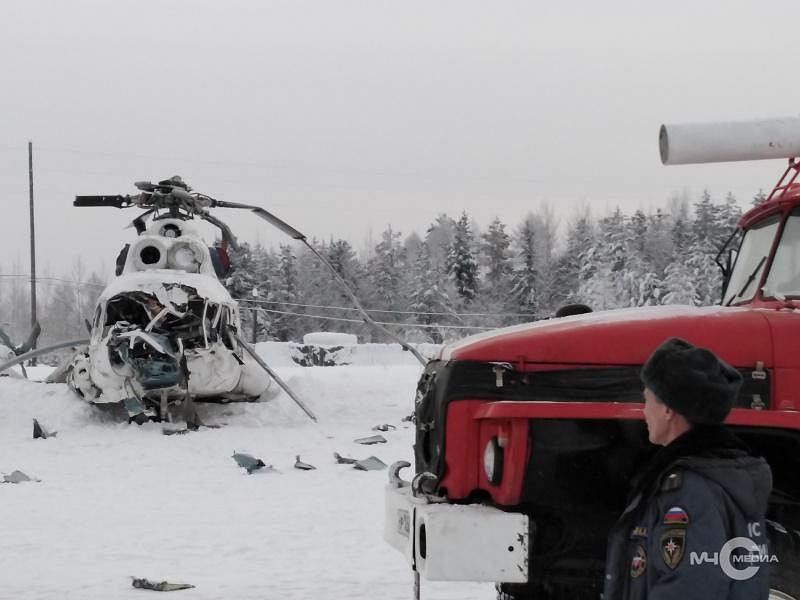 Rosja. Helikopter Mi-8 uszkodzony w czasie awaryjnego lądowania.