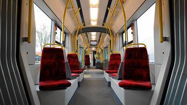 Wnętrze tramwaju SWING