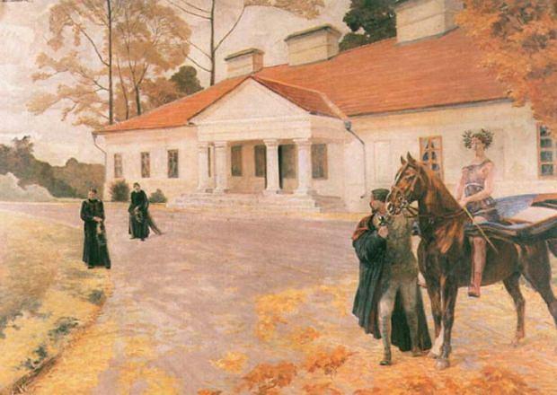 Pusty dwór - Jacek Malczewski, 1922