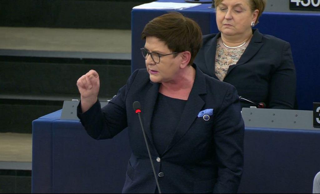 Beata Szydło w Parlamencie Europejskim/Fot. Parlament Europejski