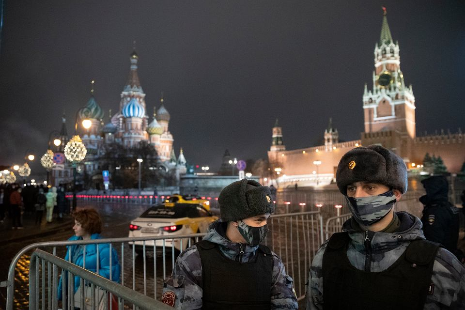 Sylwester na Placu Czerwonym, Moskwa, 31 grudnia 2020 r.