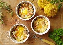 Tagliatelle zapiekane z jajkiem - ugotuj