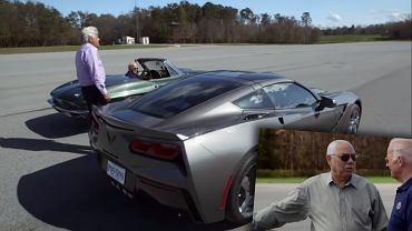 Joe Biden kontra Colin Powell - pojedynek na lotnisku w dwóch Chevroletach Corvette