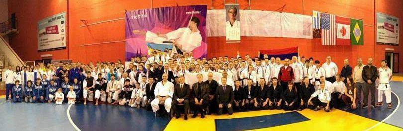 Uczestnicy mistrzostw Europy w karate tradycyjnym