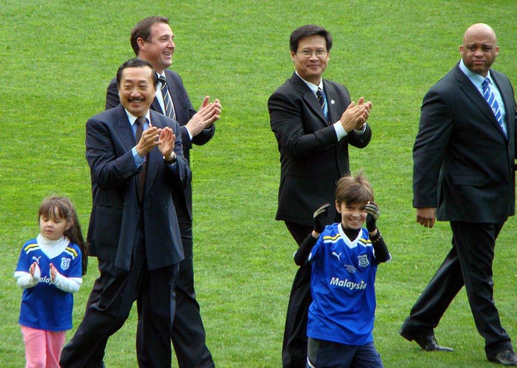 Wincent Tan (drugi z lewej), właściciel m.in. FK Sarajevo, rywala Lecha Poznań w eliminacjach do Ligi Mistrzów