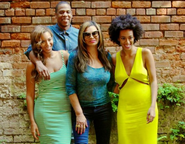 Jay Z, Beyonce, Tina Knowles, Solange
