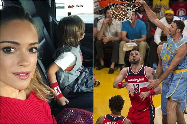 Zdjęcie numer 1 w galerii - Alicja Bachleda-Curuś zabrała syna na mecz Marcina Gortata. Mamy zdjęcia!
