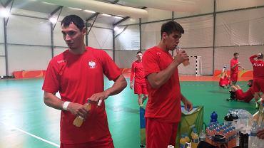 Krzysztof Lijewski i Piotr Chrapkowski podczas treningu reprezentacji Polski w Rio