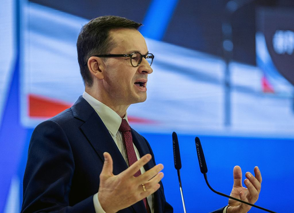 Mateusz Morawiecki podczas konwencji Prawa i Sprawiedliwości