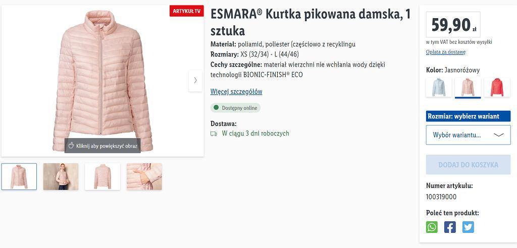 Lidl sprzedaje hitowe kurtki pikowane za mniej niż 60 zł
