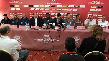 Lublin. Konferencja prasowa przed Final Four II Dywizji World Grand Prix 2015 w siatkówce kobiet