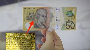 Banknot z literówką