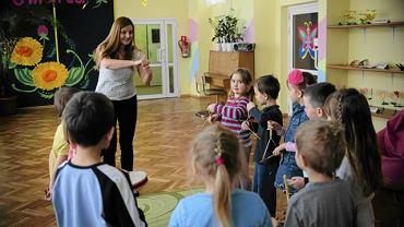 Zajecia muzyczne w przedszkolu nr 106 w Warszawie