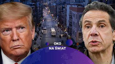 Koronawirus w USA. Donald Trump i gubernator stanu Nowy Jork Andrew Cuomo