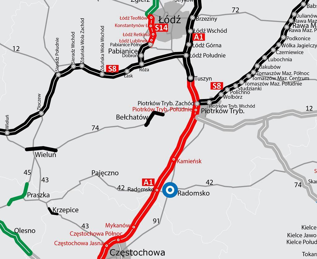 Ostatni odcinek autostrady A1 ma powstać do 2022 roku