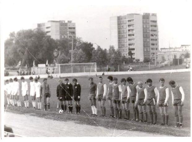 Budowlani Prypeć przed meczem w 1985 roku
