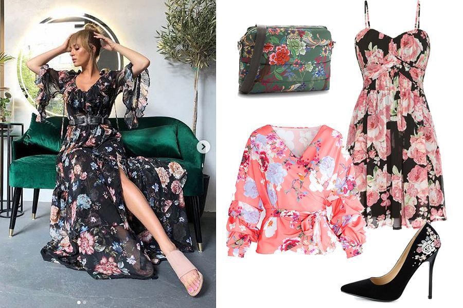 ubrania w kwiaty/mat. partnera