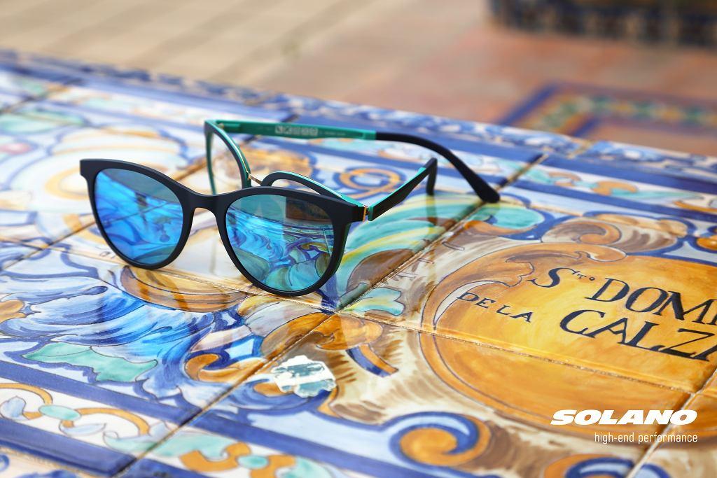 Okulary z nakładką przeciwsłoneczną