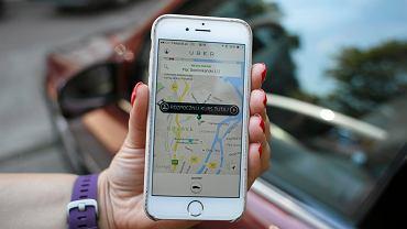 Aplikacja firmy przewozowej Uber