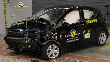 Hyundai i10 - testy zderzeniowe Euro NCAP zaliczone na 4 gwiazdki