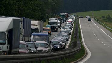 Korek na granicy polsko-niemieckiej / zdjęcie ilustracyjne