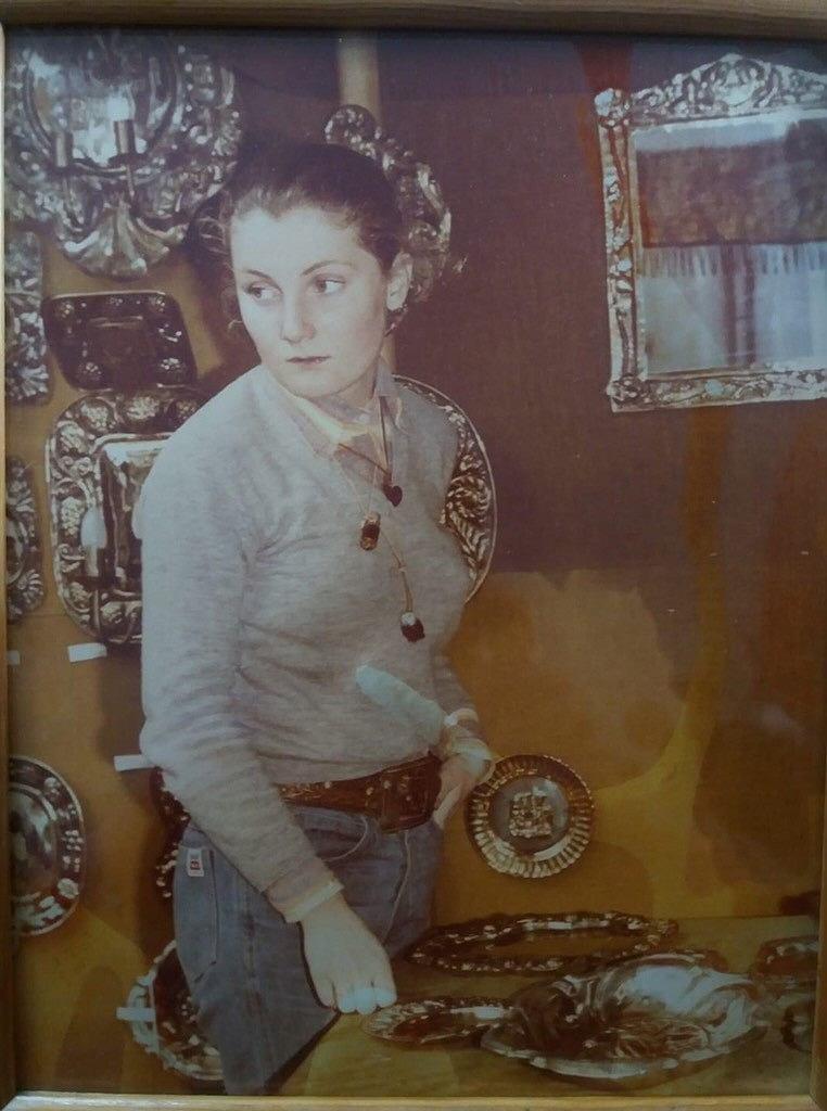15-letnia Maryla Musidłowska na jarmarku dominikańskim