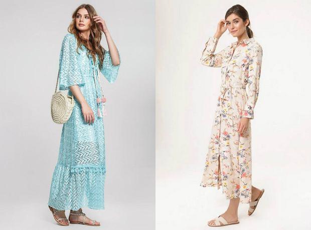 Długie sukienki boho na lato