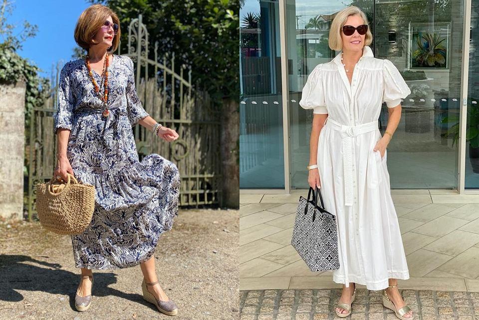 długie sukienki dla kobiet po 50