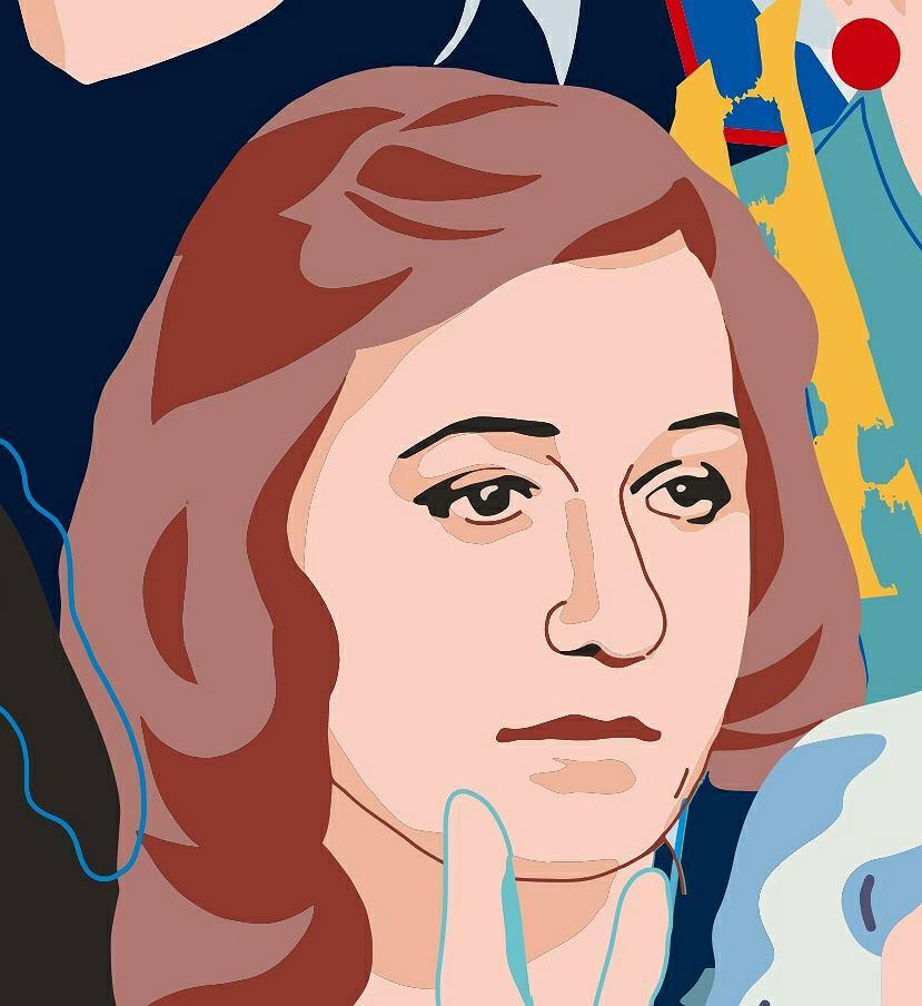 Ewa Kulik-Bielińska, fragment muralu 'Kobiety Wolności'
