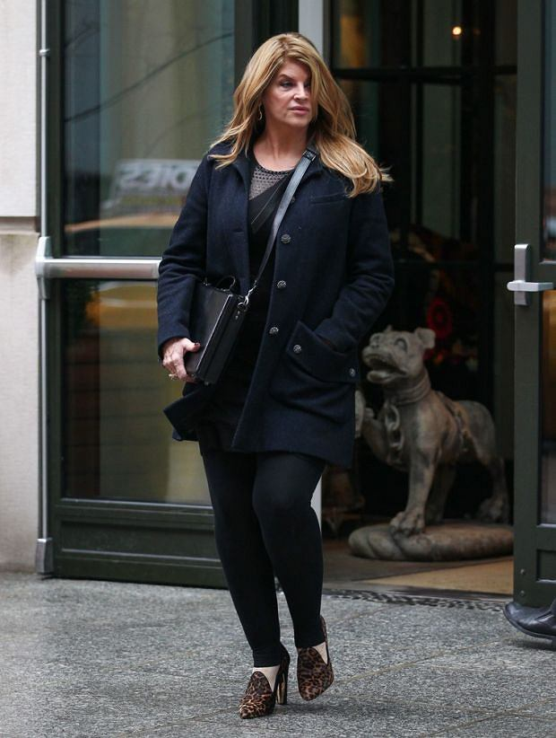 Kirstie Alley seen leaving her hotel in SoHo, New York City, USA.  Pictured: Kirstie Alley