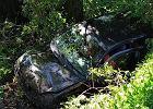 Kamil Bednarek miał wypadek samochodowy. Auto wylądowało w rowie