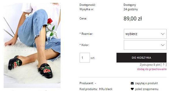 Screen ze strony Dolce Moda