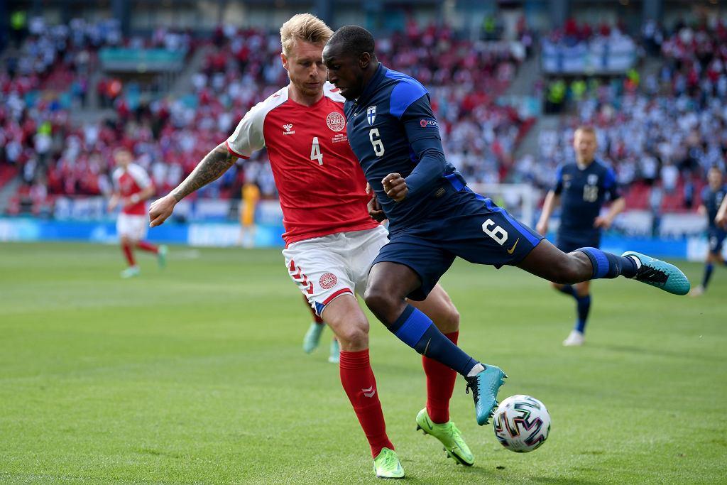 Dania (z lewej) Finlandia Euro 2020