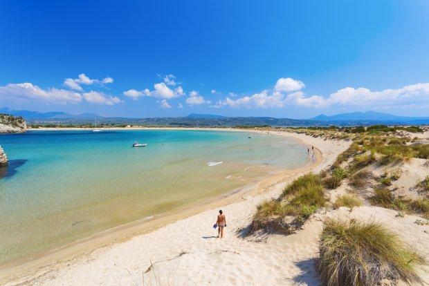 Peloponez, plaża Voidokilia