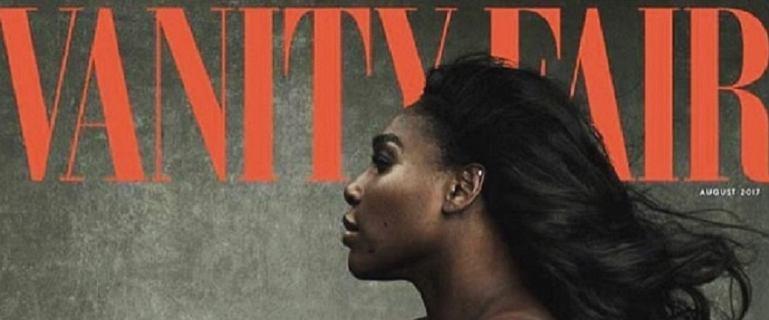 Serena Williams na okładce Vanity Fair. Ciężarna tenisistka zapozowała NAGO