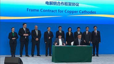KGHM podpisał umowę z China Minmetals