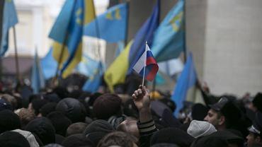 Prorosyjski protest na Krymie, 26.02.2014 r.