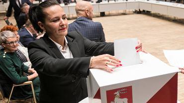Ewa Jaszczuk podczas obrad pierwszego Sejmiku Województwa Lubelskiego