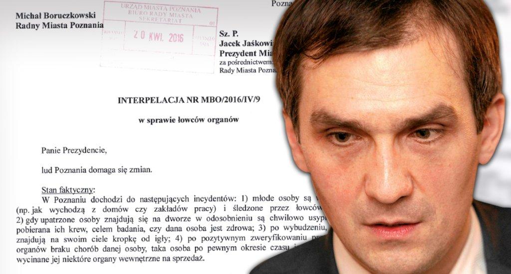 Michał Boruczkowski i jego interpelacja