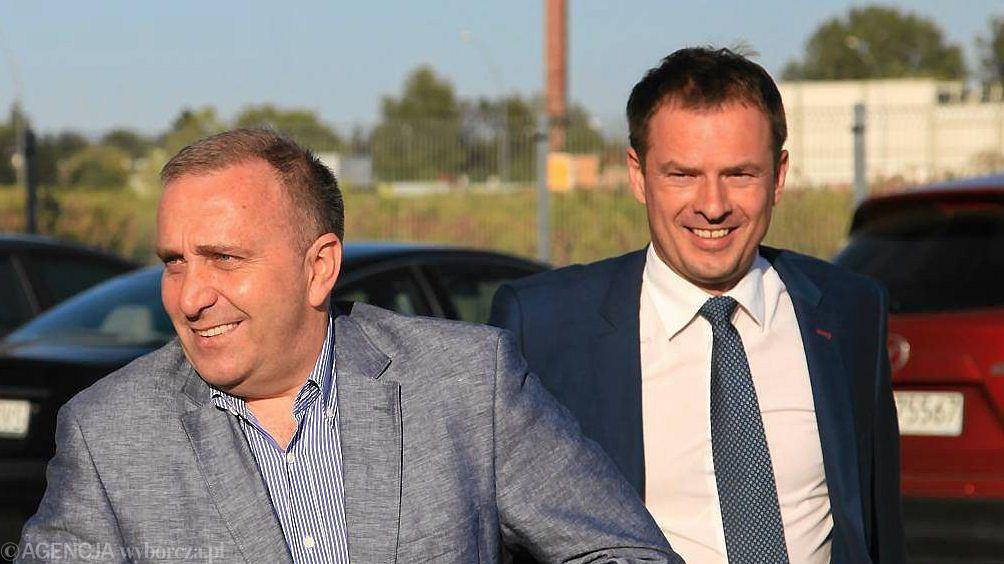 Piotr Borys (po prawej) i Grzegorz Schetyna