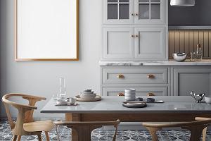 Szara kuchnia z drewnem. Piękne inspiracje i ciekawe triki aranżacyjne