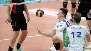 Weteran Marcin Nowak zaliczył w spotkaniu z Resovią wiele udanych zagrań