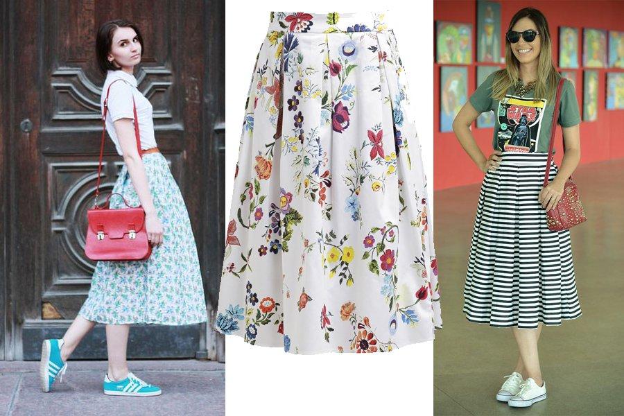 3f5bfe50 Kolorowa spódnica midi na luzie: pomysły na codzienne stylizacje