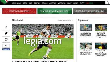 Nowa strona legia.com