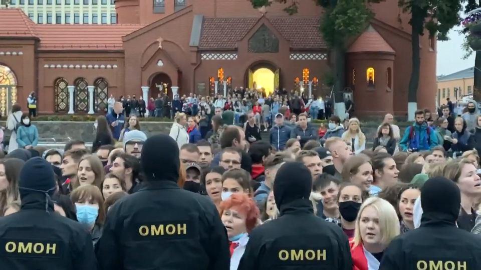 1.09.2020, kupalinka na pokojowym proteście w Mińsku