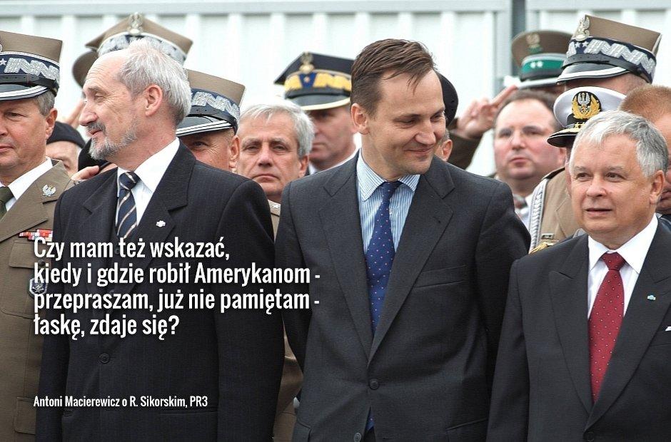 Antoni Macierewicz o Sikorskim (fot. Waldemar Kompala/AG)