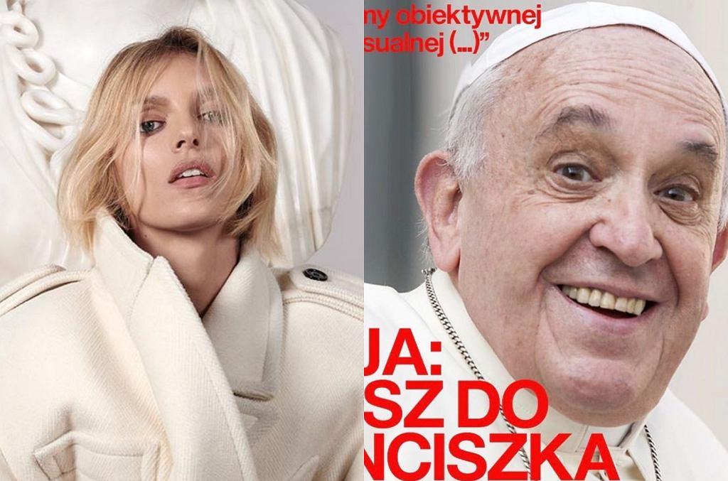 Anja Rubik i papież Franciszek
