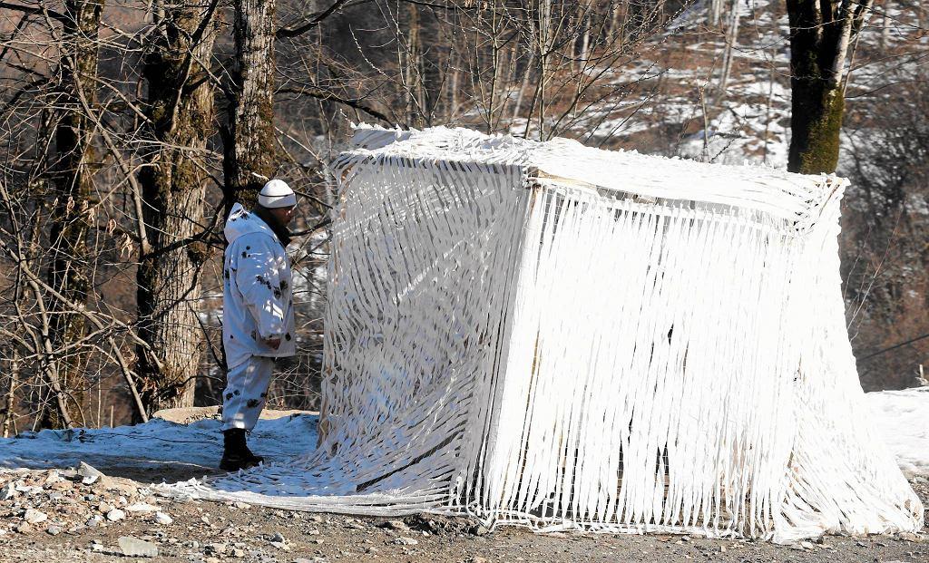 Ukryty domek żołnierzy na trasach w Soczi