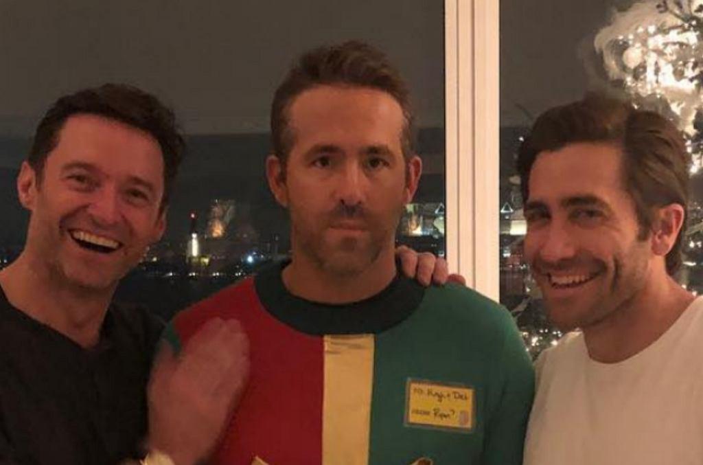 Ryan Reynolds wkręcony przez Jacka Gylenhaala i Hugh Jackmana