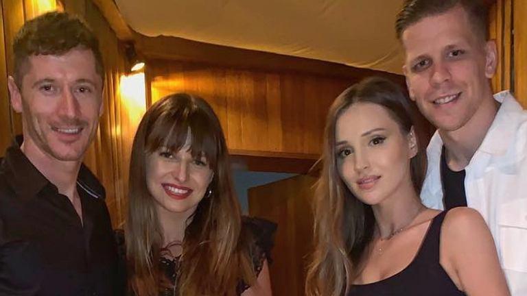 Anna i Robert Lewandowscy, Marina Łuczenko-Szczęsna i Wojciech Szczęsny